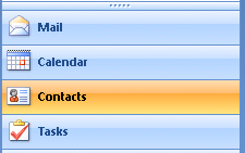 Contacts in Microsoft Outlook 2007